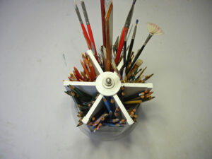 Pencil caddy, the process